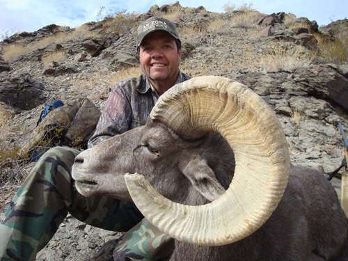 Dan with an Arizona desert bighorn sheep